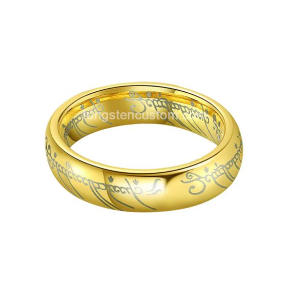 couples tungsten ring gold bible band wide wedding ring